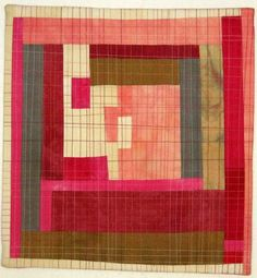 KAH says: hand dyed fabric, modern, straight line quilting. Heather Hingst Bennett
