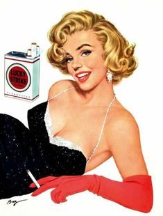 Lucky Strike Vintage Pinup Ad