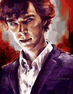 Gorgeous art of Sherlock characters.  :)