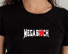 4e6308991 Items similar to MatureT-shirt, Megabitch, heavy metal shirt, graphic tshirt,  megadeth, band Tshirt, statment tshirt, adult humor, funny tshirt, ...