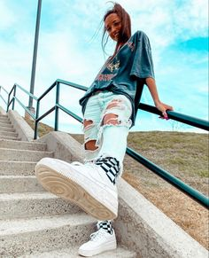 Trendy Summer Outfits, Cute Comfy Outfits, Simple Outfits, Stylish Outfits, Cool Outfits, Teen Fashion Outfits, Retro Outfits, Outfits For Teens, Jugend Mode Outfits