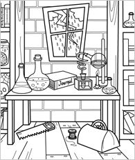 science coloring pages for kids -