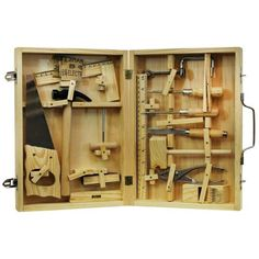 Homewear 16Pc. Metal Tool Kit with Wood Box