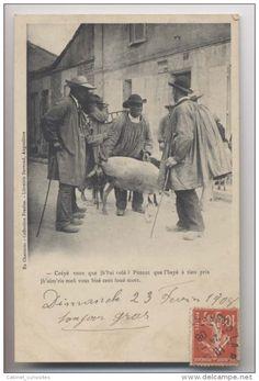 Paysans - MARCHANDS DE MOUTONS  - 1908 -  En Charente - Collection Frazine - Librairie Barraud - Angoulème - Animée