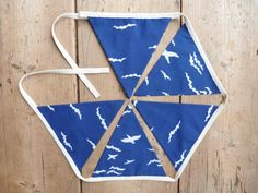Navy & White Birds and Clouds Bunting / by annasbluebellblue Bunting Banner, Banners, Etsy Handmade, Small Businesses, Photo Props, Navy And White, Easy Crafts, Garland, Panda