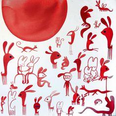 """La convivencia edénica de animalillos silvestres y adolescentes de ojos almendrados en las pinturas e ilustraciones de Vanessa Linares nos remiten a aquel comentario en el que Gary Hume sintetizaba su visión del arte: """"quiero pintar algo que sea precioso, perfecto y, por tanto, lleno de tristeza""""."""