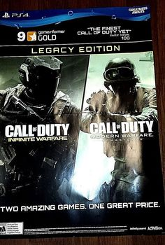 EXTRA LARGE PS4 CALL OF DUTY INFINITE AND MODERN WARFARE PROMOTIONAL POSTERBOARD