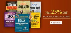 Shop Now SSC Exam Guide Books Online at 25% Discount... Click Here... http://tinyurl.com/nlxoqzu