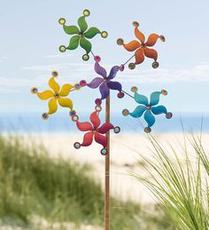 Dual Motion Stars Metal Wind Spinner In Wind Spinners