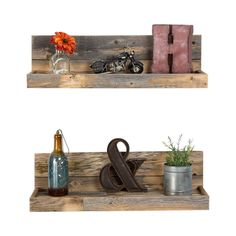 2-Piece Reclaimed Floating Shelf Set ~ $66.99 at jossandmain.com