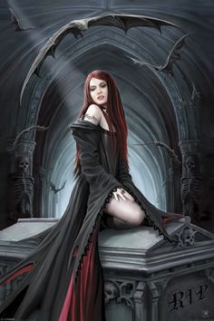 Await The Night Aracnafaria by Anne Stokes