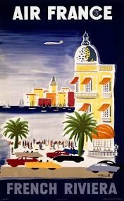 Vintage Travel Posters FRENCH RIVIERA Côte d'Azur Air France