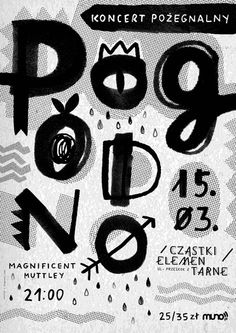 pogodno, by gosia stolinska - typo/graphic posters Graphic Design Brochure, Graphic Design Posters, Cover Design, Design Art, Wall Design, Typographic Poster, Typography Letters, Layout, Illustrations Posters