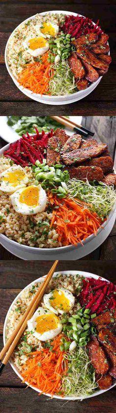 black pepper, carrot, cilantro, coriander, fresh, healthy, recipes, rice, tamari, tempeh, vegan, vegetable