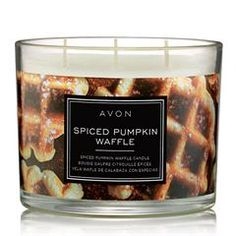 Cosy up with AVON's Spiced Pumpkin Waffle Candle. This scented candle features notes of pumpkin bourbon-infused maple syrup caramelized sugar and cinnamon. Scented Candles, Candle Jars, Candle Shop, Pumpkin Spice, Spiced Pumpkin, Pumpkin Waffles, Caramelized Sugar, Fall Candles, Home Scents