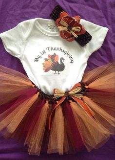 First Thanksgiving TuTu Outfit by ShopEverythingTuTu on Etsy