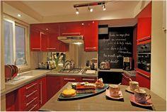 Kitchen Interior : Shinny Red Fall Kitchen Design, Interior Magazine