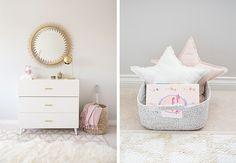 Les parents d'Ella, 3 ans, souhaitaient une chambre bébé aux tons poudrés avec du rose doux, du gris et du doré, mais ce qu'ils souhaitaient surtout...