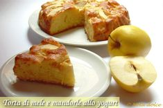 Torta di mele e mandorle allo yogurt, ricetta senza burro