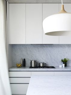 Marble benchtop and splashback