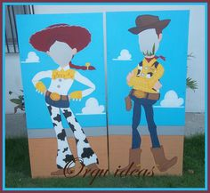 Marco para fotos. Jessie y Woody, Toy Story