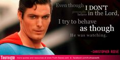 Christopher Reeve - Atheist