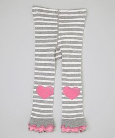 Take a look at this Gray Stripe Heart Footless Tights - Infant, Toddler & Girls by Naartjie on #zulily today!