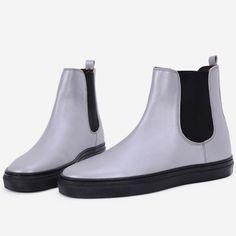 Pantofi sport argintii din piele naturala Griselda