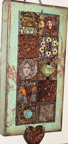 Original pinner sez: My Art Journal: My Project With AMACO--It's All About the Metal