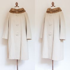 vintage 1960s Forstmann wool coat / 60s tan by inheritedattire