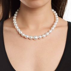 3e727d66c This elegant White South Sea baroque pearl necklace features pearls  well-matched pearls in shape