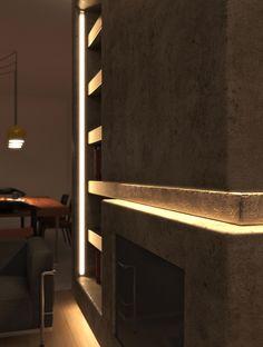 Flat renovation in Faliro, Athens, Greece. #livingroom #renovation #modern #lavaplaster #oakfloor #woodenfloor #hiddenlights #lightdesign #furnituredesign #interiordesign #digitalphotography #3Dvisualization #details