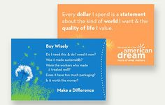 The Wallet Buddy: a cleverly-designed paper sleeve that wraps around an ATM or credit card, and offers a list of thoughtful questions to ask before making a purchase. Download it, print it, and share it with family and friends.