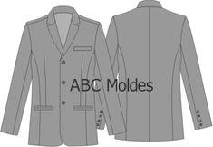 MOLDE BLAZER MASCULINO UNIFORME Single Breasted, Suit Jacket, Shirt Dress, Suits, Mens Tops, Dresses, Fashion, Cutaway, Jacket