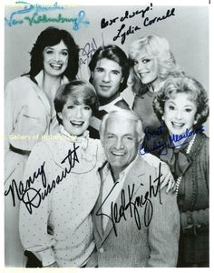 "The ""Too Close for Comfort"" Cast. It was such a great show with a great cast! Nancy played Muriel Rush who was a big band singer in her earlier days. Tv Actors, Actors & Actresses, Ted Knight, Too Close For Comfort, Blonde Actresses, Television Program, Tv Guide, Me Tv, Teenage Years"