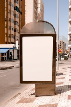 Blank advertising stand near the street in the city Free Photo Overlays Instagram, Instagram Background, Polaroid Picture Frame, Polaroid Pictures, Instagram Frame Template, Overlays Picsart, Collage Template, Instagram Story Ideas, Cute Wallpapers