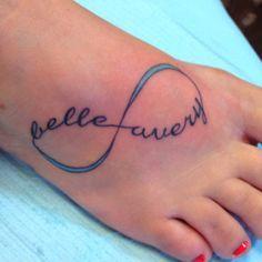 Tattoo- Infiniti symbol with children's names ❤