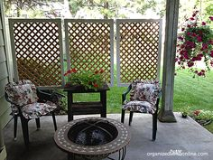 DIY Patio Privacy Screens • Ideas and Tutorials! including from 'organized chaos', this DIY privacy screen made using lattice.