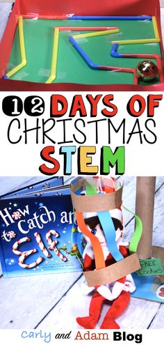 12 Days of Christmas STEM Activities: To make it easier to bring fun, hands-on activities into your Steam Activities, Holiday Activities, Activities For Kids, Christmas Activities For School, Holiday Classrooms, Classroom Ideas, Preschool Christmas, 12 Days Of Christmas, Christmas Kitchen