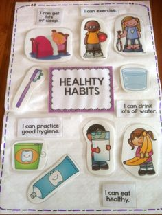 Healthy habits anchor chart and mini-accordion book to teach students some healthy habits they should be following.