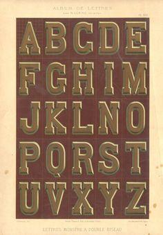 via pilllpat (agence eureka) Hand Lettering Alphabet, Cool Lettering, Block Lettering, Typography Letters, Brush Lettering, Lettering Ideas, Brush Script, Vintage Typography, Graphic Design Typography