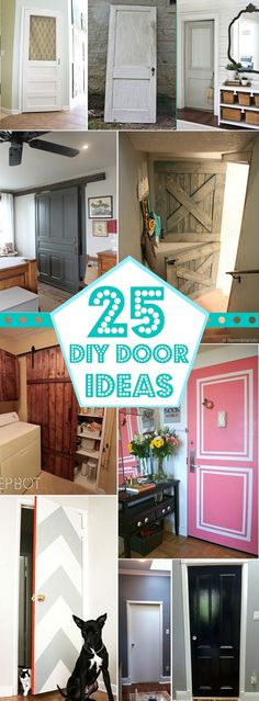 25+ Great DIY Door Ideas @Remodelaholic