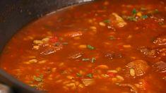 Receta de arroz caldoso de carrilleras y níscalos