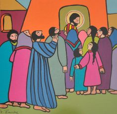 Jesus in the Village Gisele Bauche Saskatoon, Sk