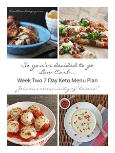 Week Two Free 7 Day Keto, Atkins, and Low Carb Diet Menu Plan, shopping and prep list from ibreatheimhungry.com