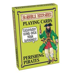 Hours of fun will be had with these Horrible Histories playing cards. This is a fab gift idea for pirate mad kids.