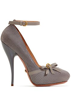 Viktor Gray | Ankle Strap Stiletto with Bow Detail