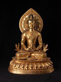 Amitabha Buddha, Gautama Buddha, Buddha Buddhism, Buddhist Art, Hindu Statues, Greek Statues, Angel Statues, Stone Statues, Budha Statue