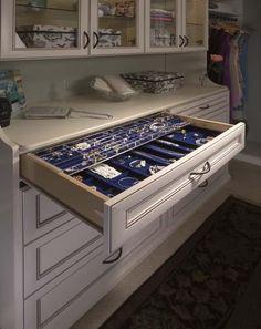 jewelry organizing trays | full size jewelry drawer, double tray