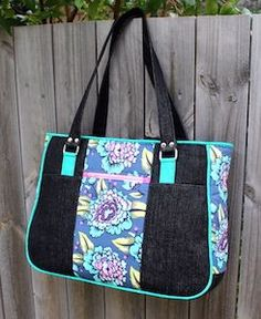 Goin' Uptown Tote Pattern – two pretty poppets